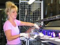 Glasklebearbeiten bei der Firma Teutemacher