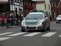 Polizeiwagen beim Münsterland-Giro