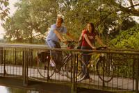 Fahrradfahrer auf dem Weg nach Warendorf