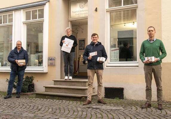Heiner Kamp, Claudia Körk, Bürgermeister Peter Horstmann, Torsten Krumme