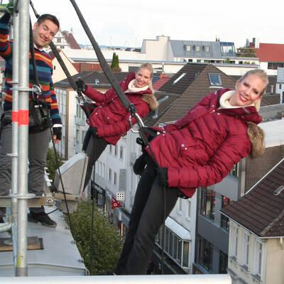 Die Millertwins zeigen am Wochenende eine Vertikalmodenschau