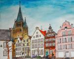 Kunstkurse portraitieren ihre Stadt