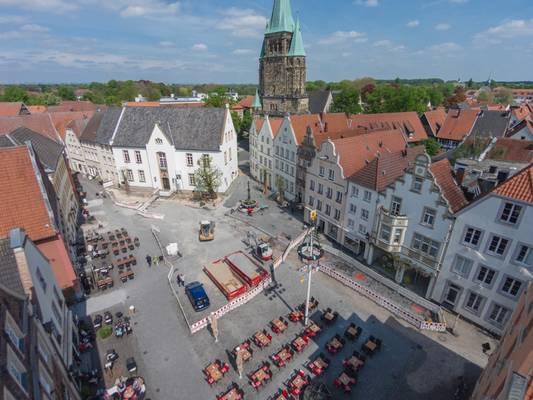 Luftbild Marktplatzbaustelle
