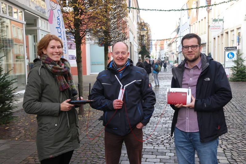 Pascale Kaell Altstadtkoordinatorin Stadt Warendorf; Oliver Prinz Geschäftsführer Verein für Freizeitservice und Jugendarbeit (VFJ) e.V.; Sebastian Höber Quartiersbüro Altstadt Warendorf