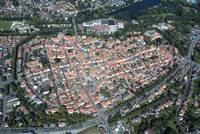 Die Warendorfer Altstadt aus der Vogelperspektive
