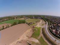 Luftbild vom neuen Baugebiet