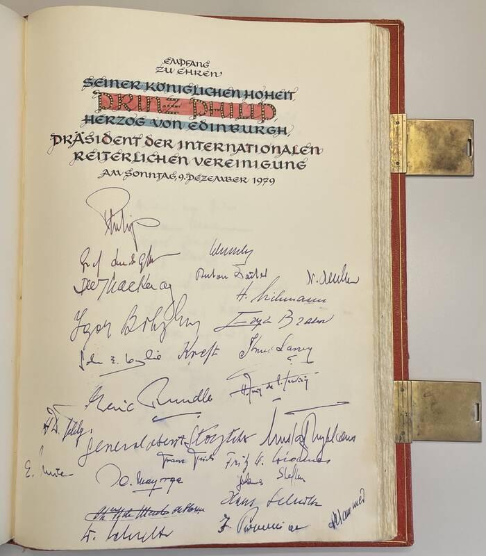 Eintragung ins Goldene Buch am 10. Dezember 1979