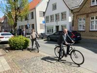 Sind beim Stadtradeln dabei: Bürgermeister Peter Horstmann, Baudezernent Peter Pesch und der Erste Beigeordnete Dr. Martin Thormann