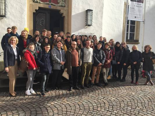 Schülergruppe aus Pesaro / © Foto: Stadt Warendorf