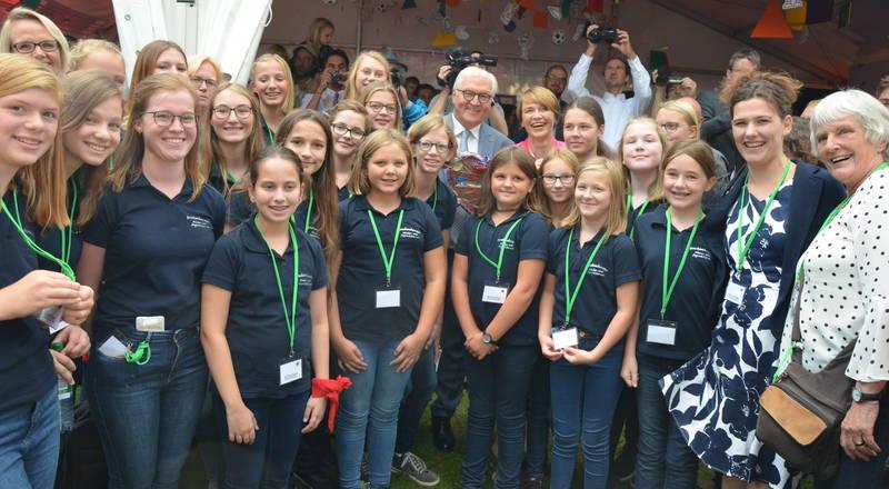 Freckenhorster Kinder- und Jugendchor beim Sommerfest des Bundespräsidenten